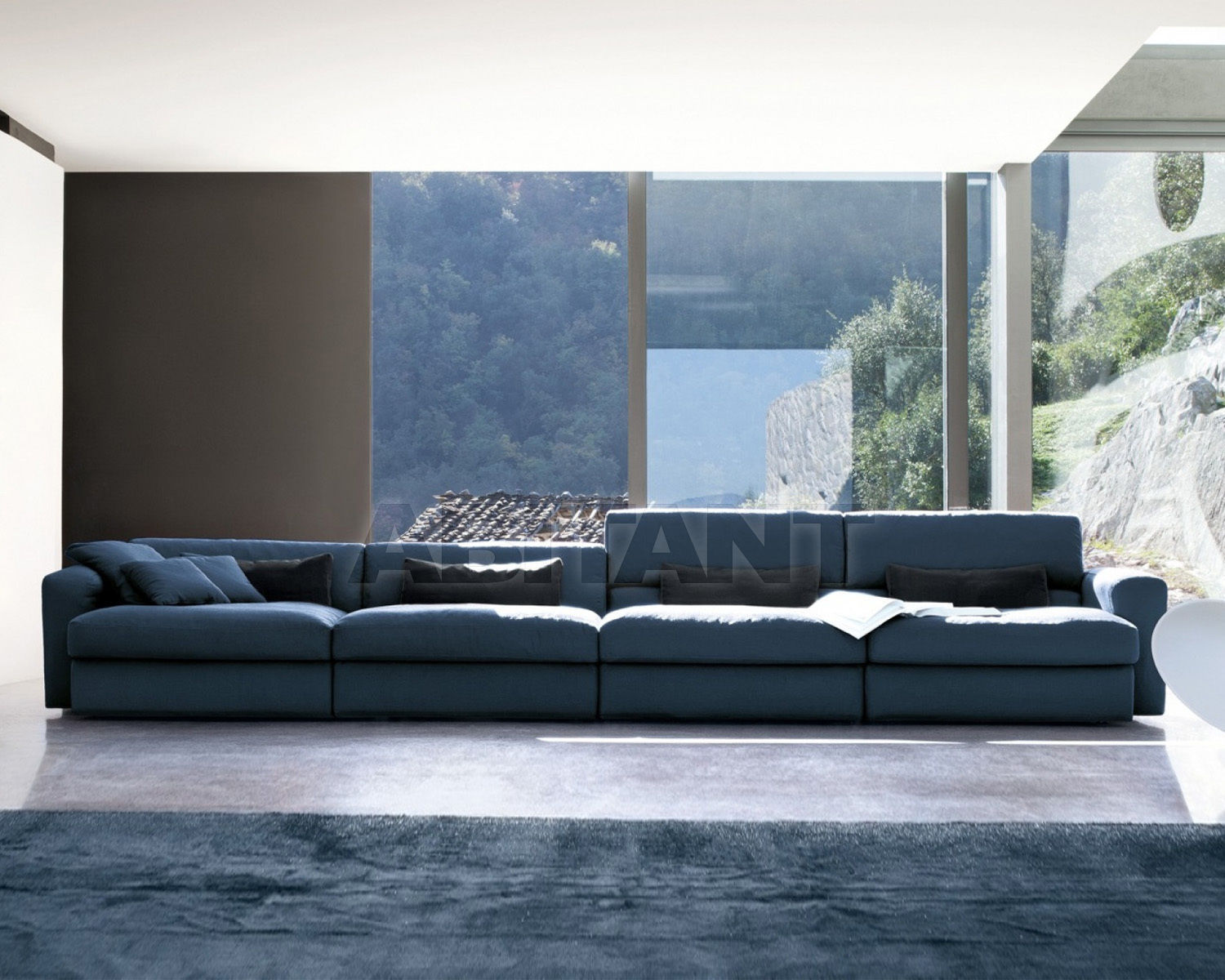 Sofa Next dark blue Doimo salotti 1NXT31 * 2 + 1NXT81 + 1NXT82 ...