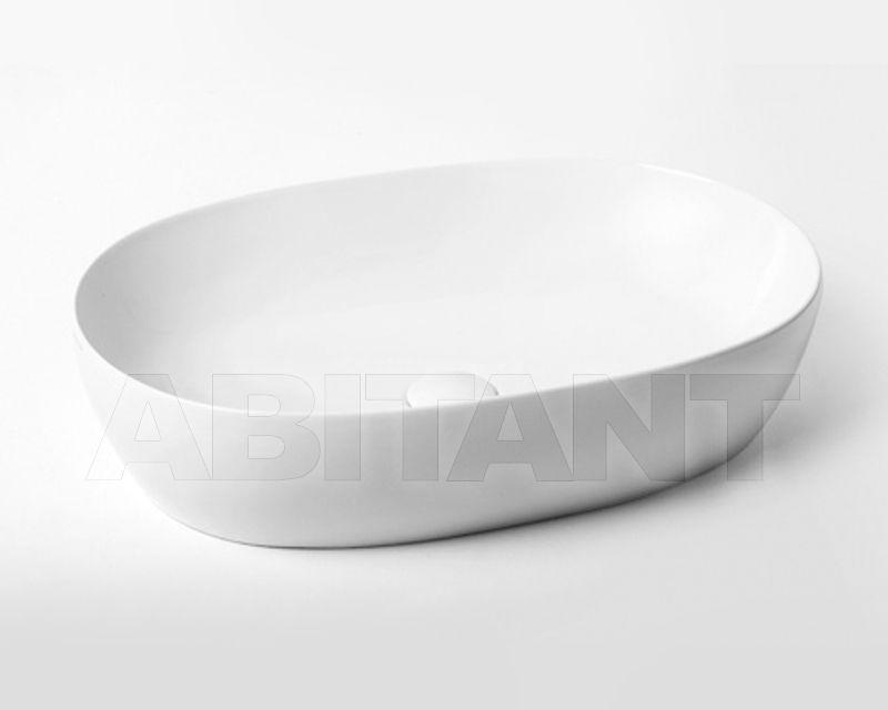 Azzurra Ceramica Clas.Countertop Wash Basin Clas White Azzurra Ceramica Eci 60