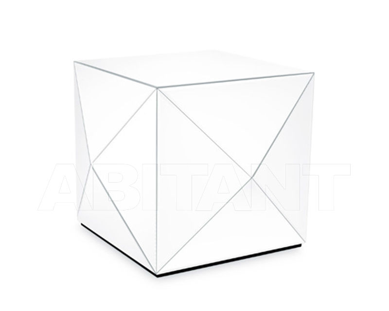 Buy Side table Reflections by Hugau 2020 GLAM ROCK WHITE