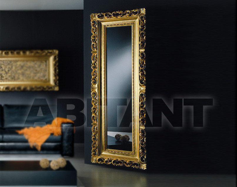 Floor Mirror Golden Vismara Design, Baroque Gold Floor Mirror