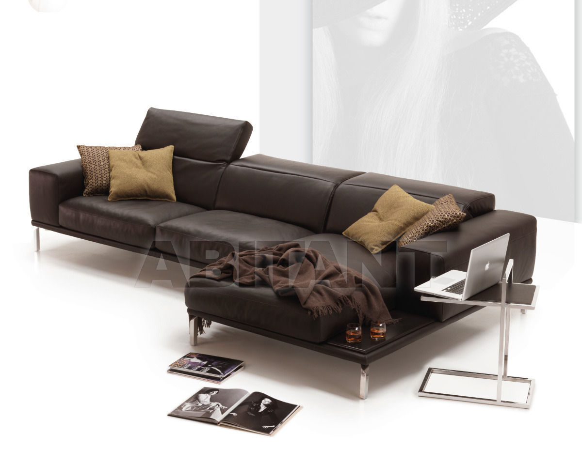 Sofa brown Nicoline CITY Divano 3P 1 Br + Chaise L. Max 1 Br ...