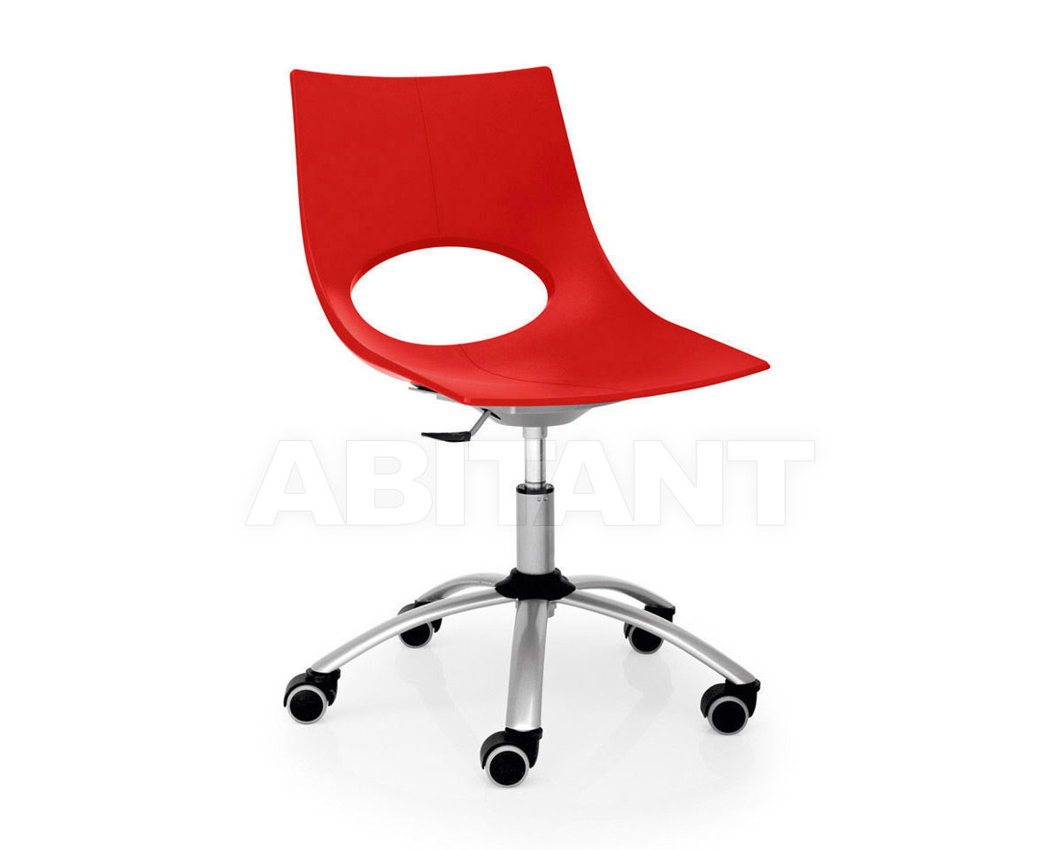 Chair congress red connubia by calligaris cb p p buy