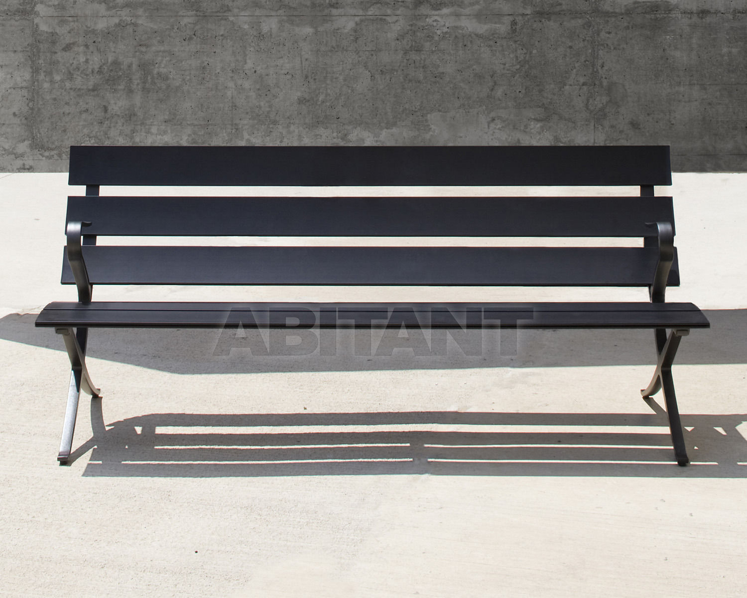 Buy Bench BENCH B B.D (Barcelona Design) PUBLIC SEATING Bench 3 seats 180 + 2xArm
